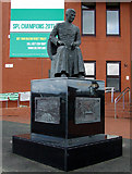 NS6163 : Brother Walfrid statue at Celtic Park by Thomas Nugent