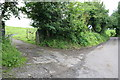SE0186 : Junction of Dame Lane and track to Riddings by Roger Templeman