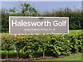 TM3975 : Halesworth Golf Sign by Adrian Cable