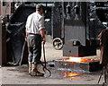SJ6903 : Hot Iron - under the hammer by Alan Murray-Rust