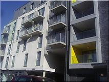 TQ1883 : Detail of new flats on Ealing Road, Alperton by David Howard