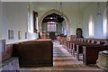 SJ5608 : St Andrew's church, Wroxeter - interior by Mike Searle