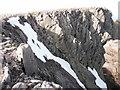 NN9599 : Summit cliffs of Braeriach by Peter S
