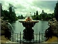 TQ2680 : Fountain overlooking The Serpentine by Paul Gillett