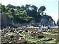 SS4746 : Rock pools, Lee Bay by Robin Drayton