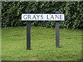 TM3679 : Grays Lane sign by Adrian Cable
