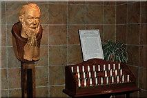 R3377 : Ennis - Francis Street - Franciscan Friary - Praying Friar Figure & Candles by Joseph Mischyshyn