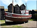 TQ8209 : One of the old fishing boats on Hastings sea front by pam fray