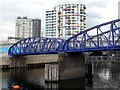 TQ3883 : Footbridge over the Waterworks River in the Olympic Park by Graham Hogg