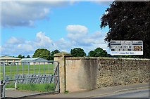 NT7233 : Entrance and signboard, Springwood Park showground Kelso by Jim Barton