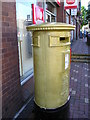 SJ2472 : Golden Post-box by George Lloyd