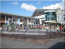 SJ3490 : Williamson Square fountain, Liverpool by Emma White