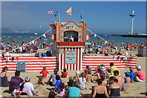 SY6879 : Punch and the 'Ghost of Tony Blair' on Weymouth beach by Roger Davies
