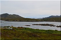 NF7828 : Loch Aineort, with the mountains of Skye on the horizon by David Martin