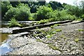 NT5216 : Old weir on the River Teviot by Jim Barton
