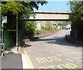 ST0894 : Aberdare Road railway bridge, Abercynon by Jaggery