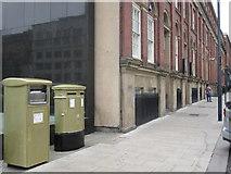 SE2933 : Gold Post Boxes, The Headrow / Cookridge Street, Leeds (2) by Rich Tea
