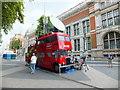 TQ2679 : Converted Double Decker Bus in Exhibition Road South Kensington by PAUL FARMER