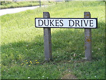 TM3876 : Dukes Drive sign by Adrian Cable