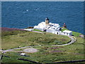 NR5808 : Mull of Kintyre: looking down on the lighthouse by Chris Downer