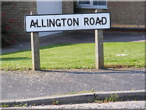 TM3877 : Allington Road sign by Adrian Cable