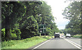 NZ0713 : A66 passing Church Plantation by John Firth