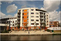 TQ1883 : Canalside apartments by Richard Croft