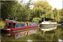 TQ1683 : Narrowboats at Perivale by Richard Croft