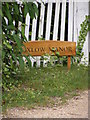 TM4163 : Buxlow Manor sign by Adrian Cable