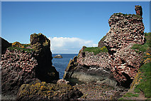 NT6779 : Dunbar Castle by Anne Burgess