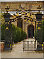 SO8932 : Tewkesbury Abbey Gates by David Dixon