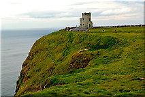 R0392 : Cliffs of Moher - O'Brien's Tower at end of NW Path along Cliffs by Joseph Mischyshyn