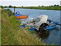 TF2009 : Unusual craft on The River Welland near Crowland by Richard Humphrey