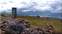 NG5739 : Dun Caan summit - looking south west by Gordon Hatton
