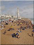TQ3103 : Brighton Beach and Wheel by David Dixon