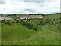 SK2055 : Ballidon and Hoe Grange quarries by Richard Law