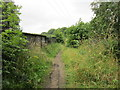 SE2917 : The path goes over a disused railway line by Ian S