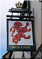 SP3509 : The Red Lion Hotel (2) - sign, 1-3 Corn Street, Witney by P L Chadwick
