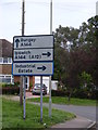 TM3876 : Roadsign on the B1117 Walpole Road by Adrian Cable