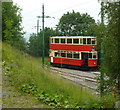 SK3455 : A London tram near the end of the line at Crich museum by Andrew Hill
