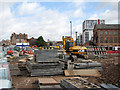 SK5738 : Near Crocus Street: tramway extension works by John Sutton