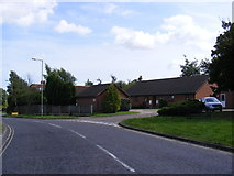TM3877 : B1123 Roman Way, Halesworth by Adrian Cable