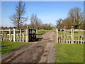 SP1265 : Fence and gates to Oldberrow Court by Robin Stott