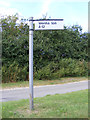 TM4174 : Roadsign on Blackheath Road by Adrian Cable