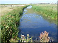 TQ7074 : Drainage channel on Higham Marshes by Marathon
