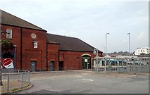 SJ8545 : Exit of bus station, Newcastle under Lyne by Claire Macneill