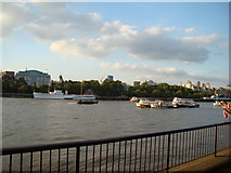 TQ3180 : View of the North Bank from the South Bank by Robert Lamb