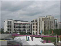TQ3884 : Team GB Athletes' Village, Olympic Park  by David Anstiss