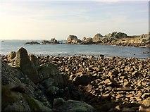 SV8707 : St. Warna's Cove by Andrew Abbott