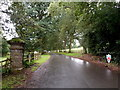 SO2143 : Entrance drive to Baskerville Hall Hotel, Clyro Court by Jaggery